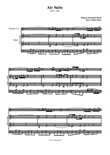 Aria. Arrangement for two performers: Trumpet in C and organ by Johann Sebastian Bach