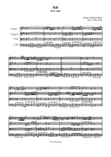 Aria: Version for string quartet by Johann Sebastian Bach