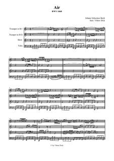 Aria: Version for brass quartet by Johann Sebastian Bach