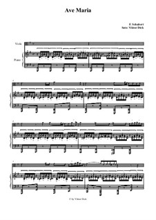 Ave Maria, for Two Instruments, D.839 Op.52 No.6: For viola and piano by Franz Schubert