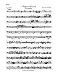 Skargardsshyllning: Bassoon I, II parts by Hans-Jürgen Philipp