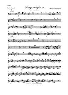 Skargardsshyllning: Oboe I, II parts by Hans-Jürgen Philipp