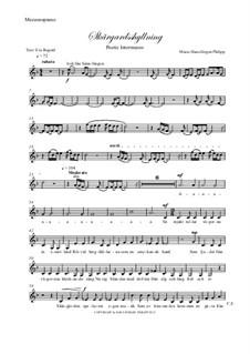 Skargardsshyllning: Mezzo-soprano part by Hans-Jürgen Philipp