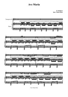 Ave Maria, for Two Instruments, D.839 Op.52 No.6: For trumpet in B and piano by Franz Schubert