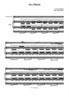 Ave Maria, for Two Instruments, D.839 Op.52 No.6: For trumpet in B and organ by Franz Schubert