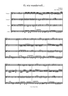 Oh, how Wonderful: For string quartet by folklore