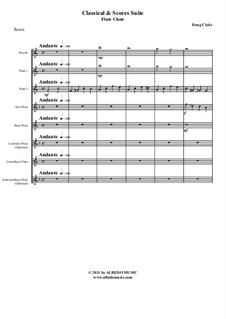 Classical and Scores Suite: For flute choir, AMSM62 by Doug Clyde