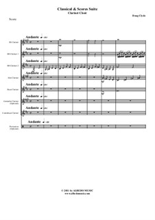 Classical and Scores Suite: For clarinet choir, AMSM64 by Doug Clyde
