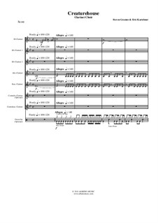 Creaturehouse: Clarinet choir, AMSM65 by Steven Grames, Eric Kartchner