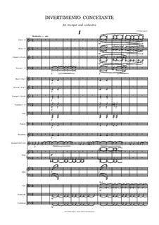 Divertimento Concertante for Trumpet and Orchestra: Full score by Peter Petrof