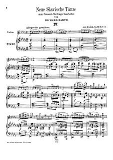 No.4-7, for Violin and Piano: No.4-7, for Violin and Piano by Antonín Dvořák