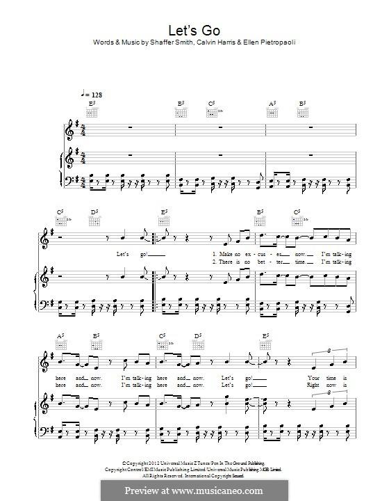 Let's Go: For voice and piano (or guitar) by Calvin Harris, Ne-Yo, Ellen Pietropaoli