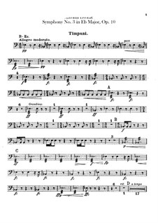 Symphony No.3 in E Flat Major, B.34 Op.10: Percussion parts by Antonín Dvořák