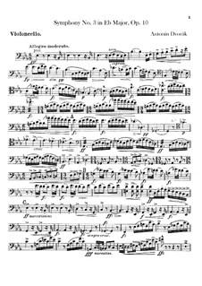 Symphony No.3 in E Flat Major, B.34 Op.10: Cellos part by Antonín Dvořák