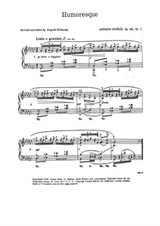Humoresques, B.187 Op.101: No.7 in G Flat Major (with fingering) by Antonín Dvořák