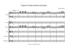 Fugato for Piano and String Orchestra: Fugato for Piano and String Orchestra by Alexander Barlow