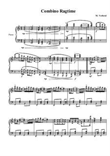 4 Ragtimes for piano: Ragtime No.1, MVWV 602 by Maurice Verheul
