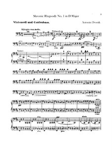 Rhapsody No.1 in D Major: Cellos and double basses part by Antonín Dvořák