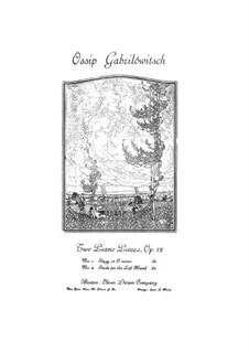Two Piano Pieces, Op.12: No.1 Elegy by Ossip Gabrilowitsch