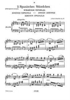 Spanish Serenade, Op.37: For piano by Alfred Grünfeld