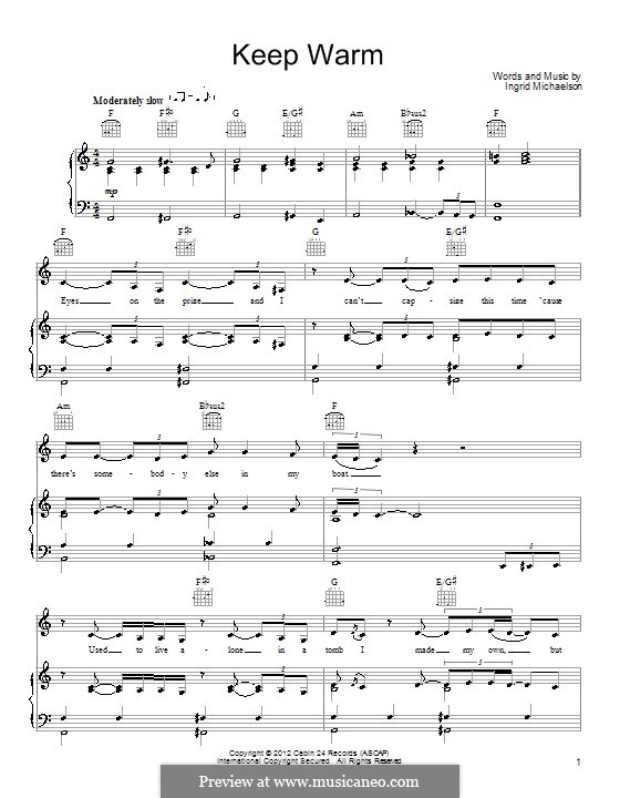 Keep Warm: For voice and piano (or guitar) by Ingrid Michaelson