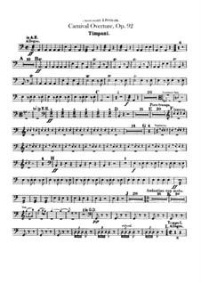 Carnival, B.169 Op.92: Percussion part by Antonín Dvořák