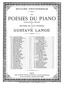 Pure as Snow (Alpine Flower), Op.31: For piano by Gustav Lange