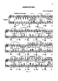 Lieder von Franz Schubert, Op.90: Greeting by Gustav Lange