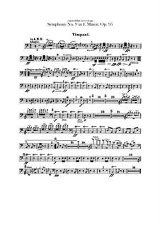 Complete Symphony: Percussion parts by Antonín Dvořák