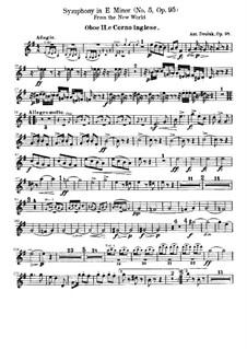 Complete Symphony: Oboe II and cor anglais part by Antonín Dvořák