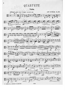 String Quartet No.12 in F Major 'American', B.179 Op.96: Viola part by Antonín Dvořák