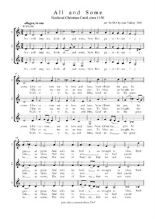 All and Some (Medieval Carol): All and Some (Medieval Carol) by folklore