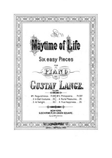Maytime of Life, Op.292: No.6 Ersehntes Glüсk (Happiness) by Gustav Lange