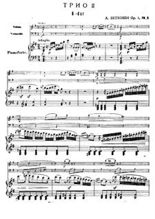 Three Piano Trios, Op.1: Trio No.2 by Ludwig van Beethoven