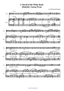 No.3 David of the White Rock: For viola and piano by folklore, David W Solomons