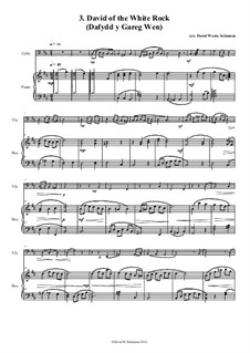 No.3 David of the White Rock: For cello and piano by folklore, David W Solomons