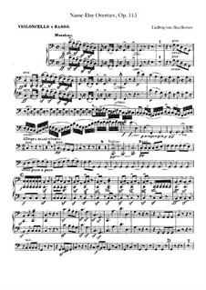 An Minna, WoO 115: Cello and double bass part by Ludwig van Beethoven