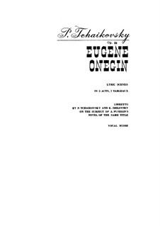 Complete Opera: Piano-vocal score by Pyotr Tchaikovsky