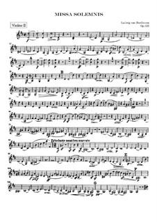Missa Solemnis, Op.123: Violin II part by Ludwig van Beethoven