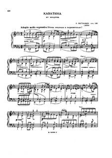String Quartet No.13 in B Flat Major, Op.130: Cavatina. Arrangement for piano by Ludwig van Beethoven