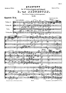 String Quartet No.15 in A Minor, Op.132: Full score by Ludwig van Beethoven