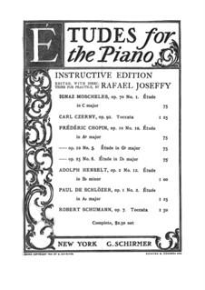 Etudes for the Piano: Etudes for the Piano by Carl Czerny, Ignaz Moscheles, Adolf von Henselt, Robert Schumann, Frédéric Chopin, Paul de Schlözer