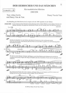 Der Herrscher und das Mädchen: Instrumental parts by Nancy Van de Vate