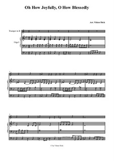 O Sanctissima (Oh, How Joyfully): For trumpet in B and organ by folklore