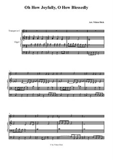 O Sanctissima (Oh, How Joyfully): For trumpet in C and organ by folklore
