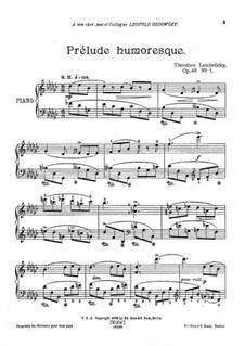 Three Pieces, Op.48: No.1 Prélude humoresque by Theodor Leschetizky