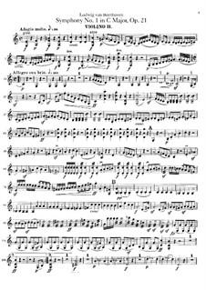 Complete Symphony: Violin II part by Ludwig van Beethoven