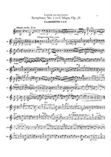 Complete Symphony: Clarinets parts by Ludwig van Beethoven