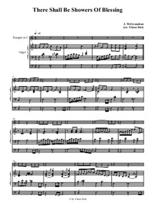 There Shall Be Showers of Blessing: For trumpet in C and organ by James McGranahan