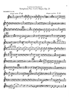 Complete Symphony: Trumpets parts by Ludwig van Beethoven
